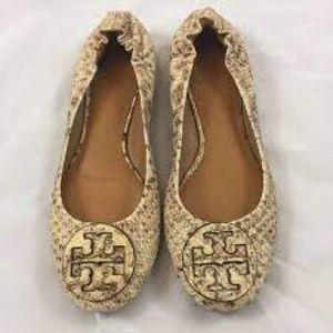 Tory Burch Reve snake print shoe